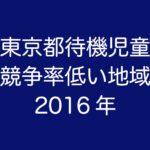 東京都の待機児童が比較的少ない地域(2016年/平成28年度版)